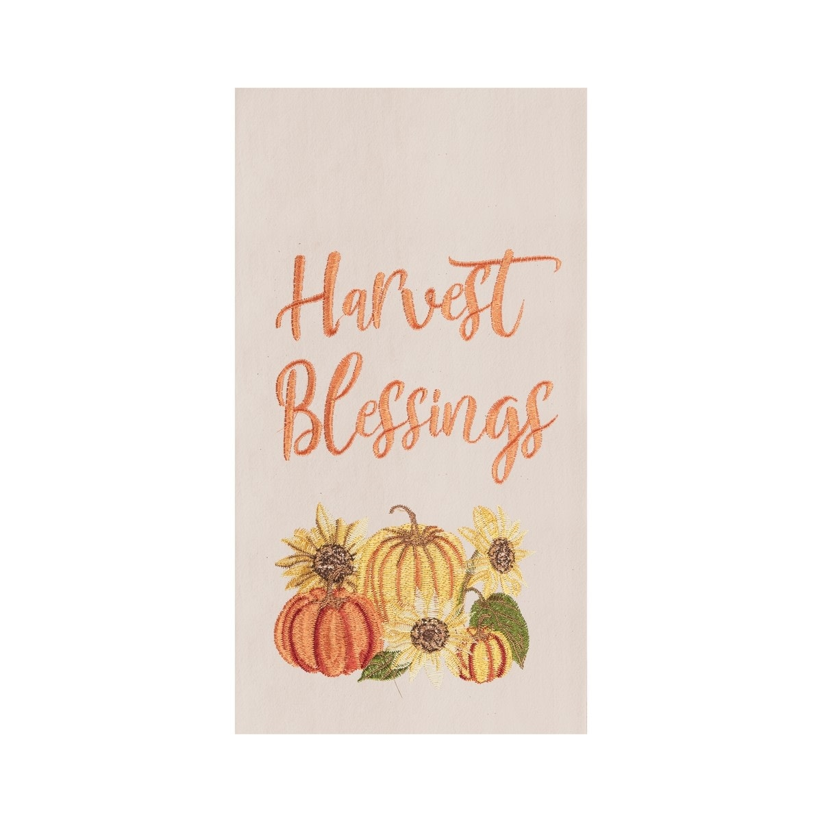 Harvest Blessings Fall Embroidered Towel