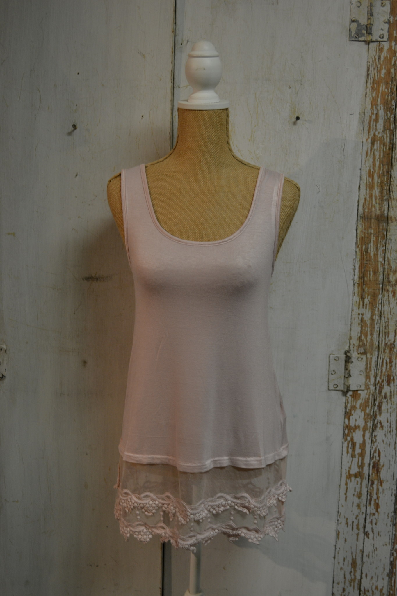 Beaded Lace Slip Extender Tank (4-Sizes/3-Colors)