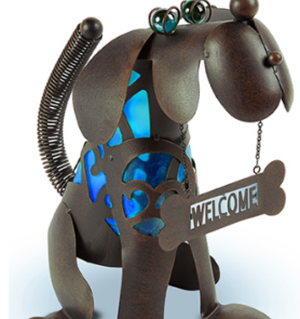 Blue Solar Welcome Dog