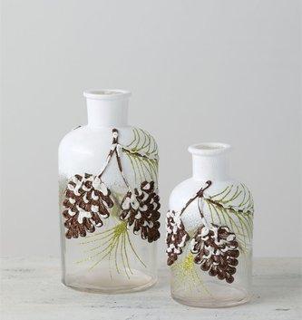 Glitter Pinecone Bottle (2-Sizes)