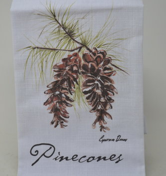 Pinecones On Branch Towel