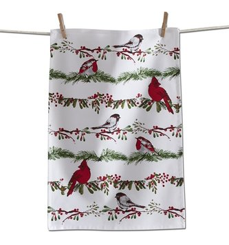 Birds and Berries Dish Towel