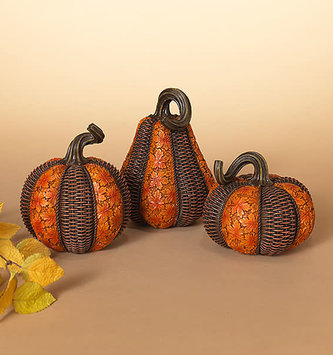 Harvest Resin Pumpkin (2-Sizes/3-Styles)