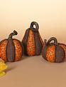 Harvest Resin Pumpkin (2-Sizes/3-Styles)