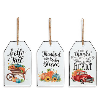 Enamel Harvest Tag Sign (3-Styles)