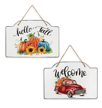 Hanging Enamel Harvest Sign (2-Styles)