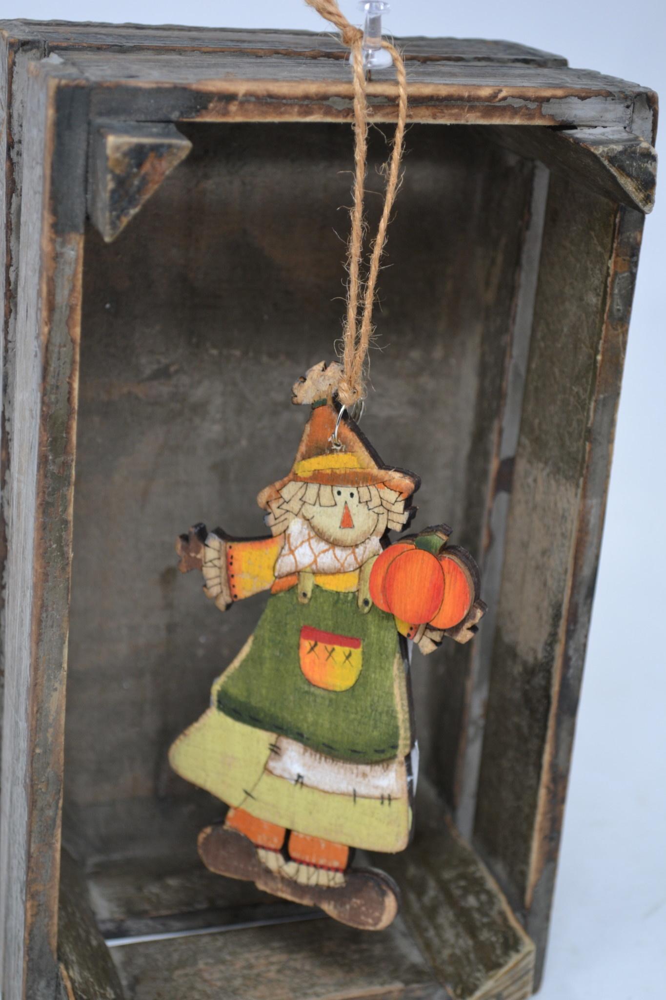 Wooden Harvest Ornament