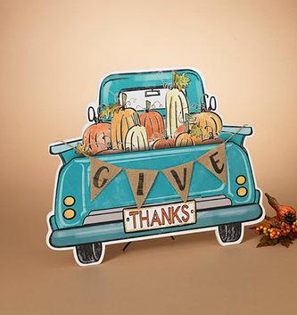Teal Give Thanks Pumpkin Truck