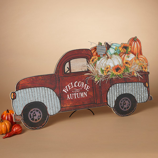 Wood & Tin Harvest Pumpkin Truck