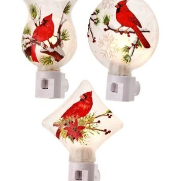 Frosted Cardinal Branch Night Light (3-Styles)