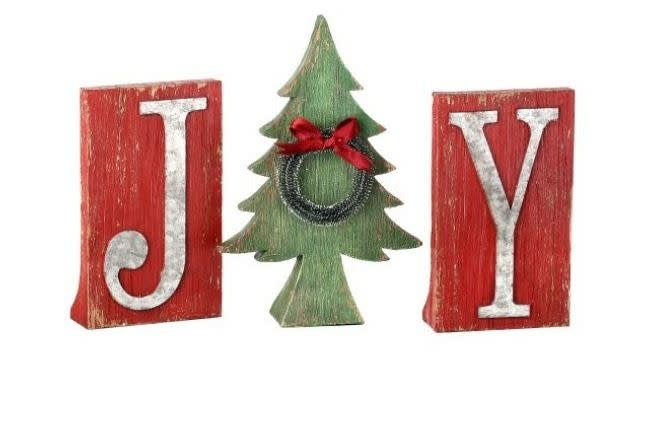 Joy Rustic Holiday Letters
