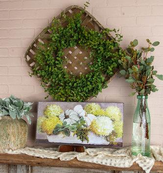 Hydrangea & Pumpkin Horizontal Painted Print