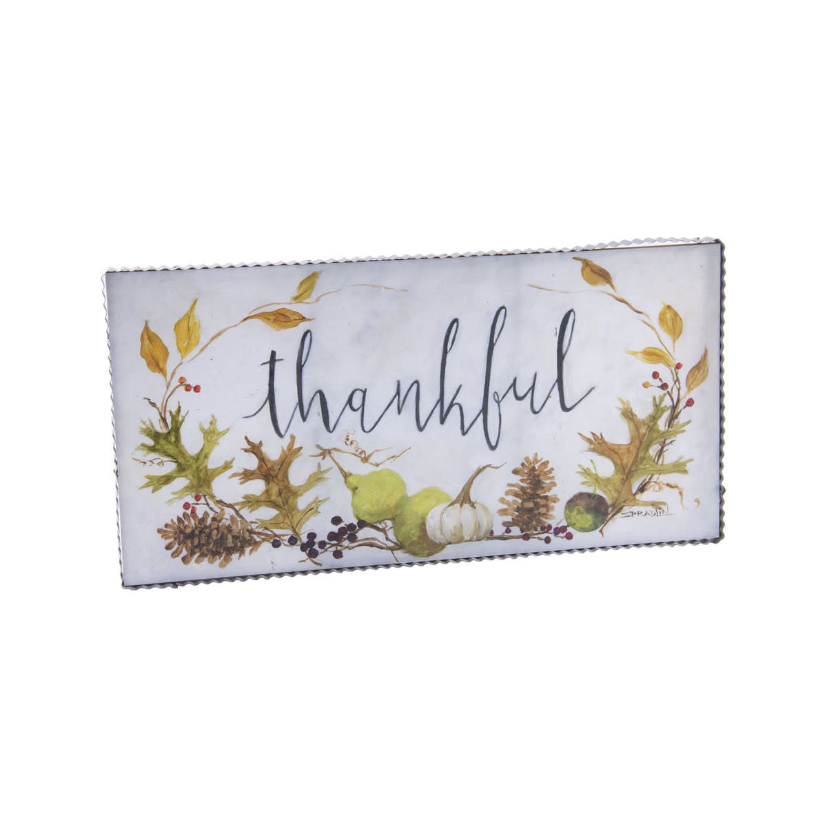 Thankful Autumn Horizontal Painted Print