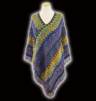Multicolor Sweater Poncho (3-Colors)