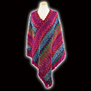 Multicolor Sweater Pancho (3-Colors)