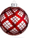 "4.75"" Glass Plaid Ornament (2-Styles)"
