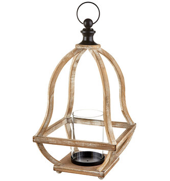 "18"" Open Lantern Candle Holder"