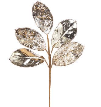 """23"""" Bead and Pearl Magnolia Leaf Stem"""
