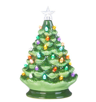 LED Ceramic Vintage Christmas Tree