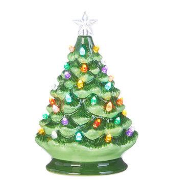 LED Ceramic Vintage Christmas Tree