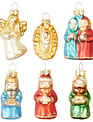 Set of 6 Vintage Nativity Ornaments