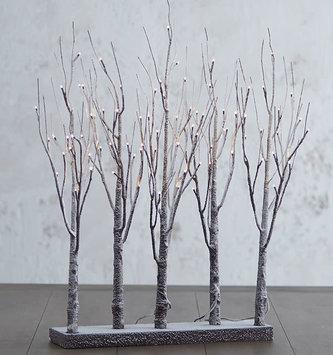 """30"""" Pre Lit Twinkle Snowy Forest"""