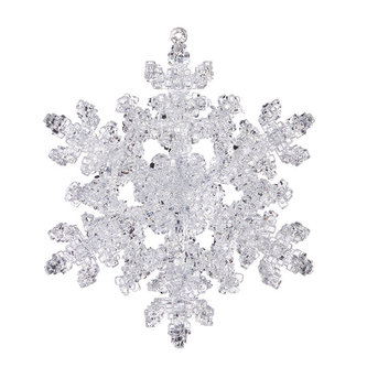 Double Sided Frosted Snowflake Ornament