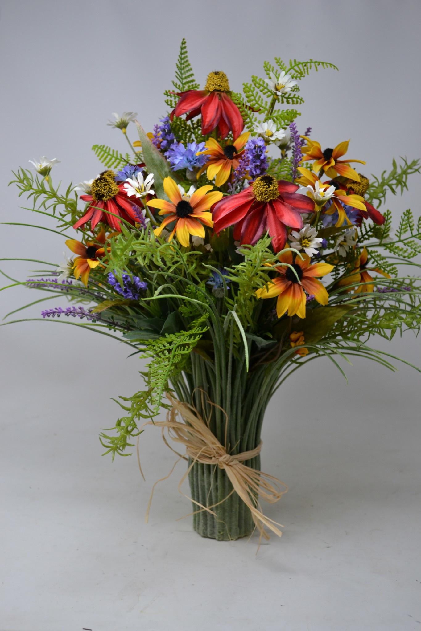 Custom Rosemary and Wildflowers Grass Vase