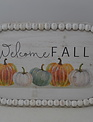 Oval Beaded Welcome Fall Tray (2-Sizes)