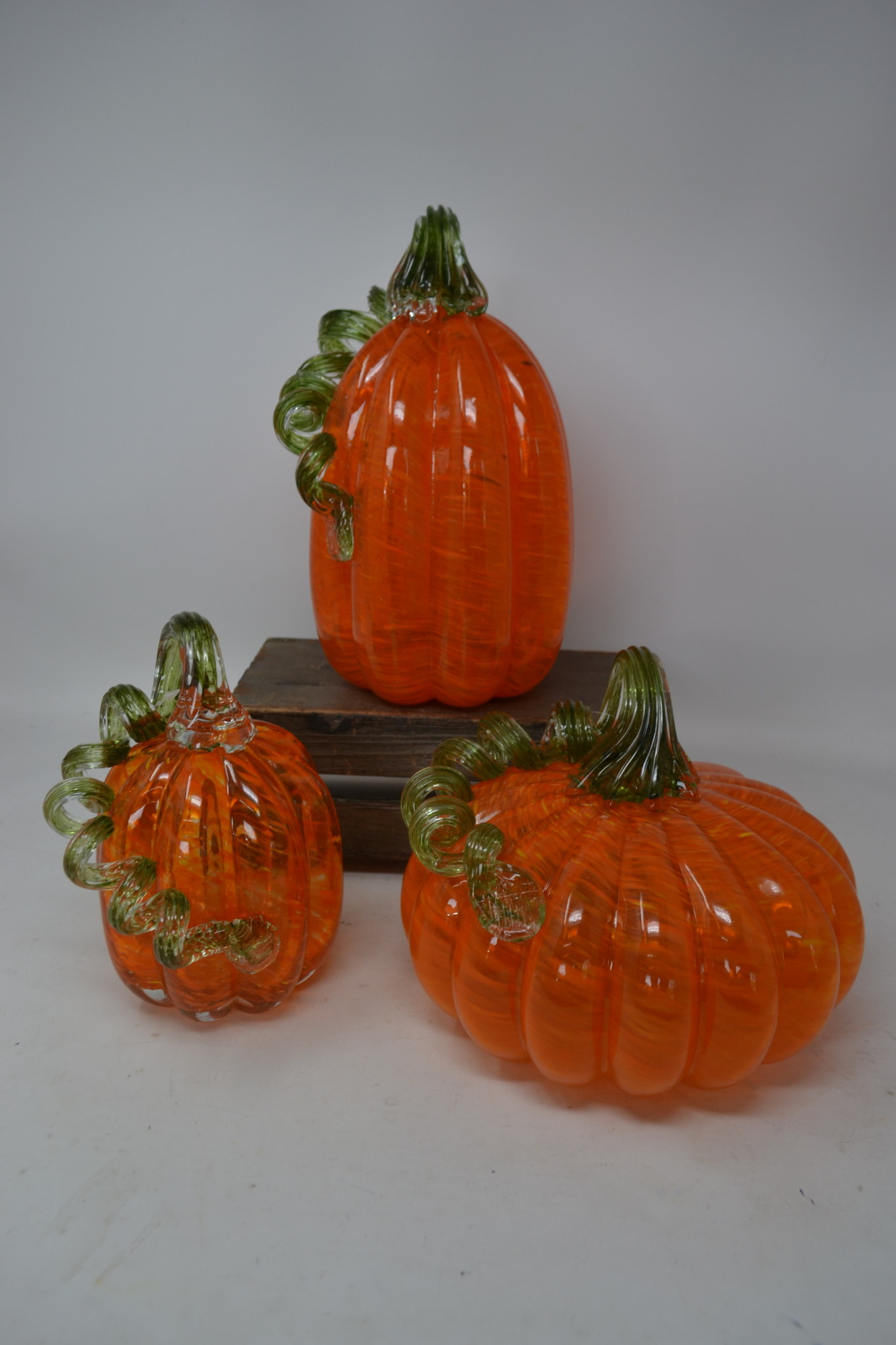 Handspun Orange Glass Pumpkin (3-Styles)