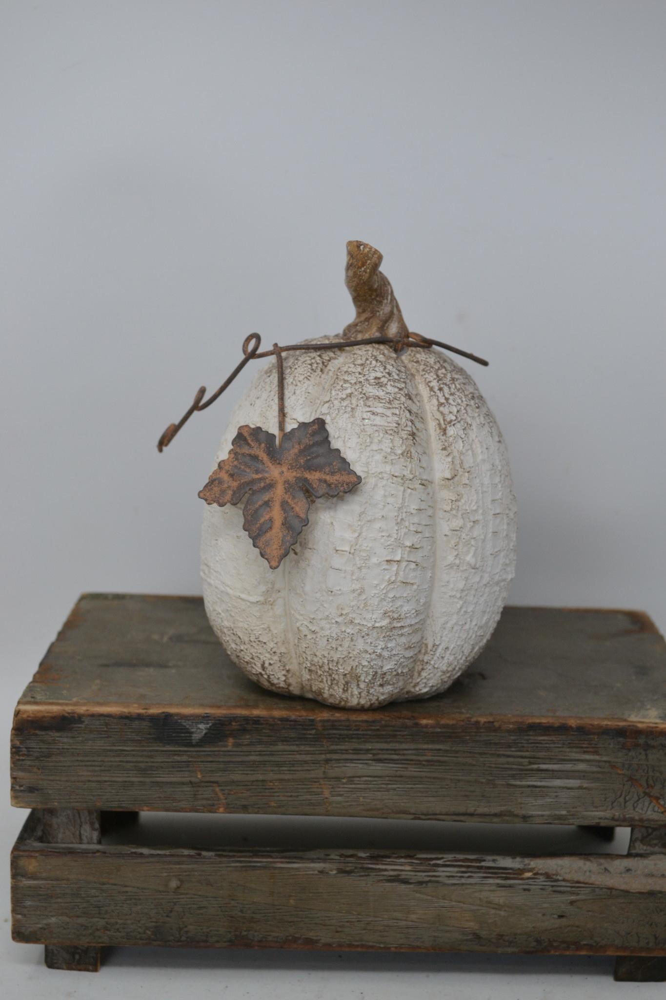 Woodgrain Whitewashed Pumpkin (3-Styles)