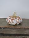 Mini Autumn Handblown Glass Pumpkin (3-Styles)