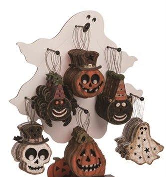 Spooky Wooden Halloween Ornament (6-Styles)