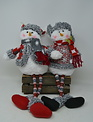 Shelf Sitter Snowman Couple w/ Beaded Legs