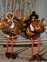 Mr & Mrs Fall Turkey Shelf Sitters
