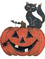 LED Jack-O-Lantern w/ Black Cat
