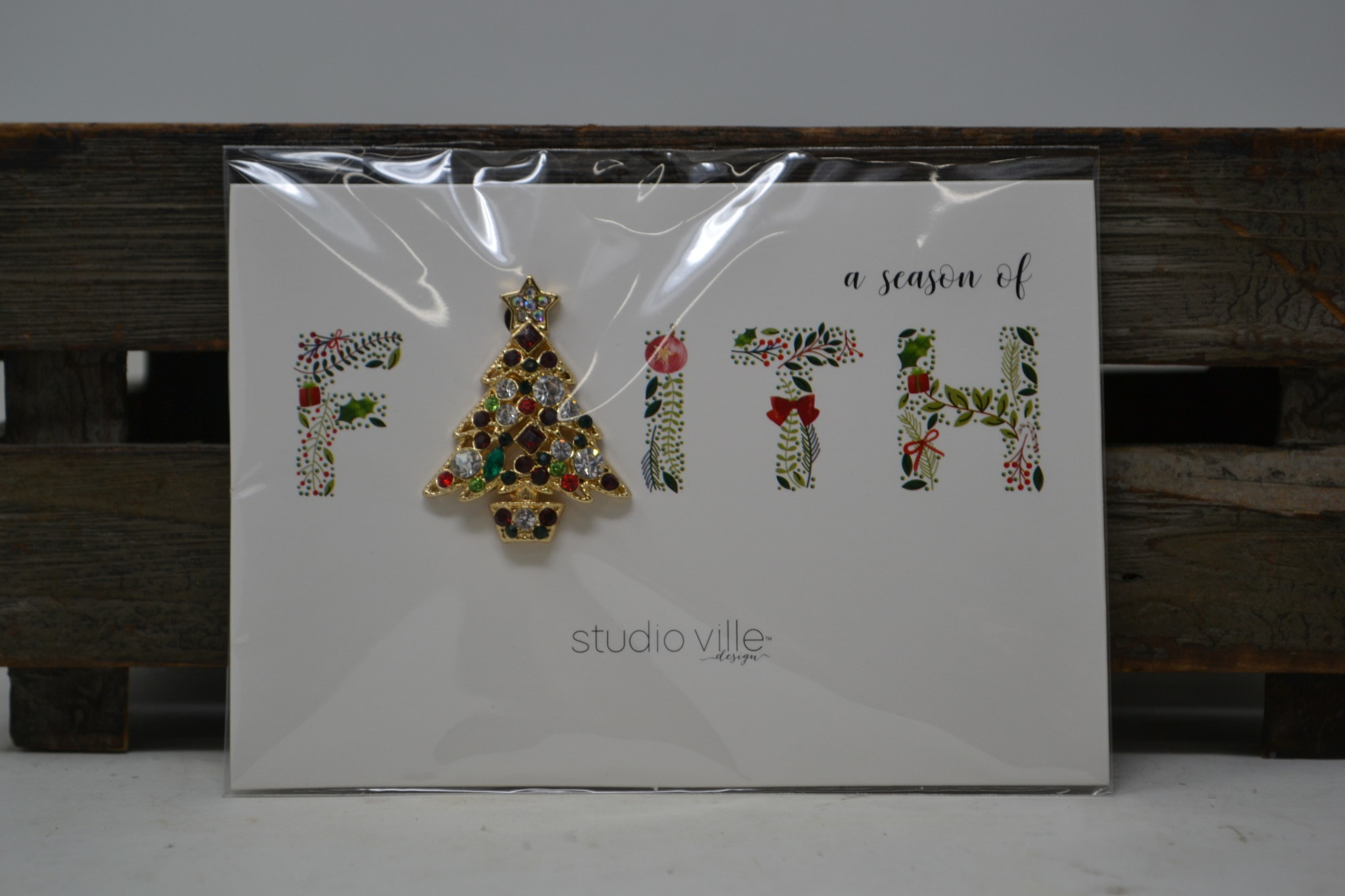 Christmas Glitz Pin (4-Styles)