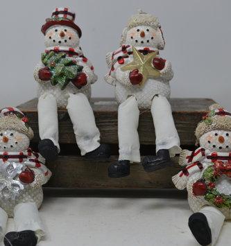 Plaid Snowman Shelf Sitter (4-Styles)
