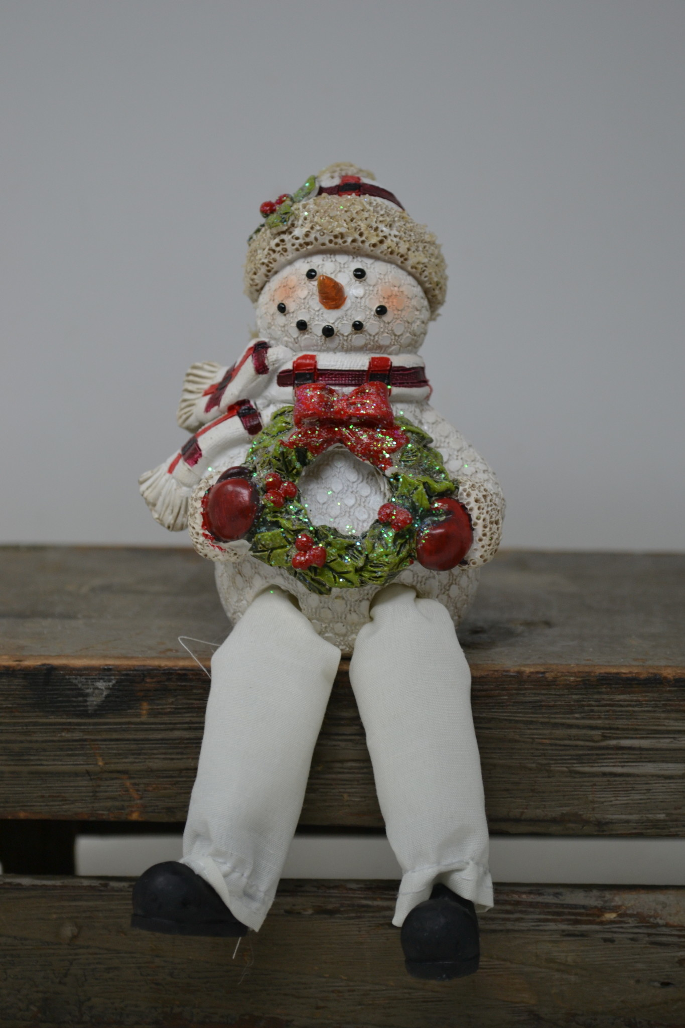 Plaid Snowman Shelf Sitter (4-Styles)