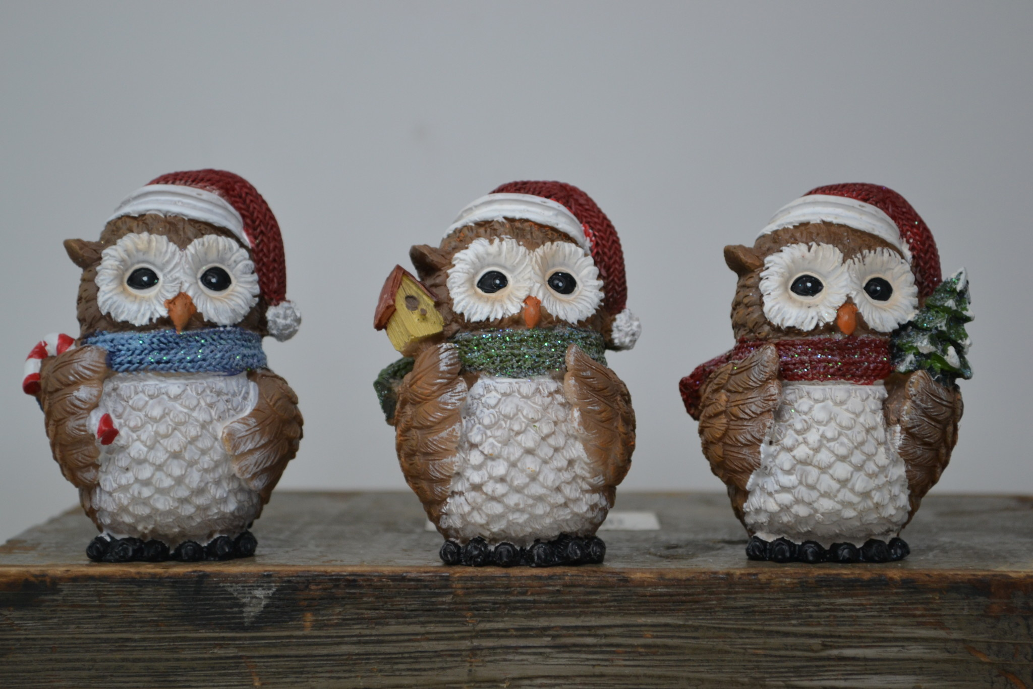 Set of 3 Jolly Christmas Owl's