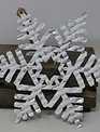 Iced Metal Snowflake Ornament (3-Styles)