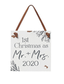 1st Christmas as Mr & Mrs Ornament