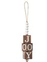 Beaded Wooden Joy Ornament