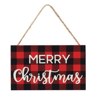Buffalo Plaid Merry Christmas Ornament