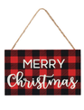 Buffalo Plaid Merry Christmas Ornament