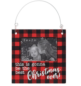 Best Christmas Ever Photo Frame Ornament