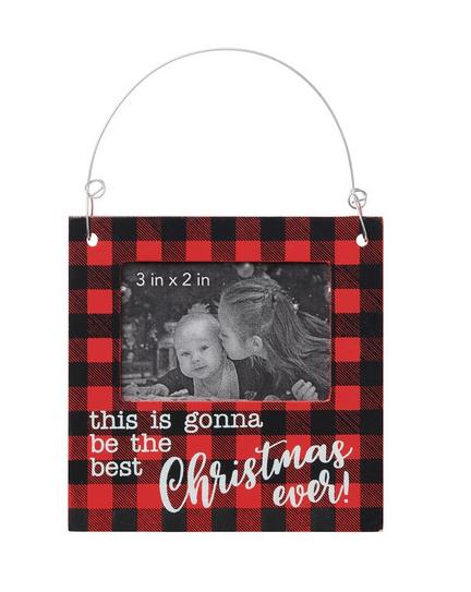 Best Christmas Ever Photo Frame Ornament