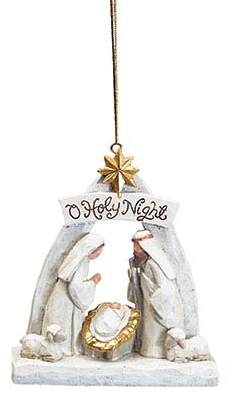 Arched Cream Nativity Ornament (3-Styles)