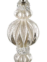 Platinum Mercury Glass Finial Ornament (3-Styles)