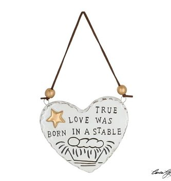 True Love Was Born Heart Ornament